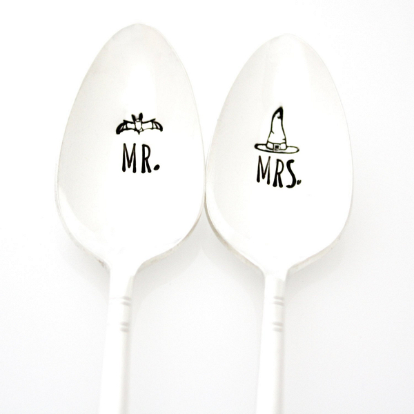 Mr & Mrs Halloween Teaspoons