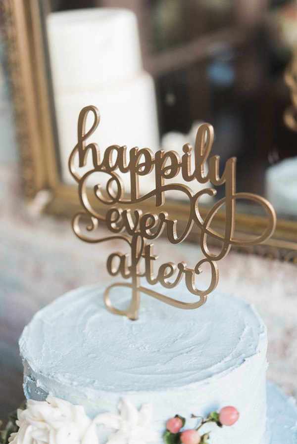 Happily Ever After Wedding Cake Topper Aisle Society