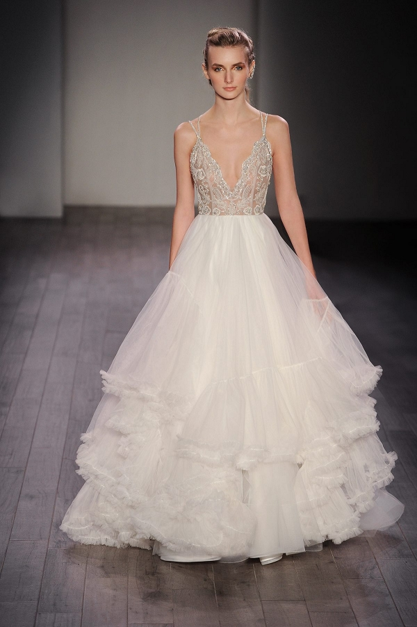 Hayley Paige 'Georgie' Tulle Embellished Bodice Bridal Ballgown