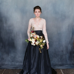 Long Lace Sleeve Wedding Dress - Valentina from Emily Riggs Bridal