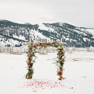 Snowy mountain ceremony