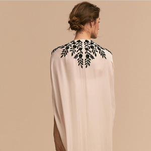 'Hughes' Embroidered Bridal Cape
