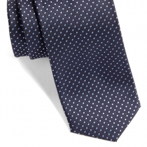 Hugo Boss Dot Silk Skinny Tie