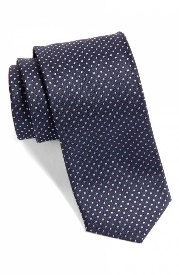 Hugo Boss Dot Silk Skinny Tie