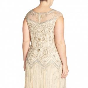 Illusion Yoke Embellished Mother of the Bride Dress