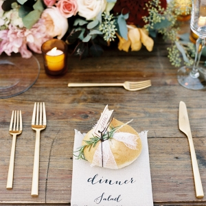 Elegant Rustic Wedding Place Setting