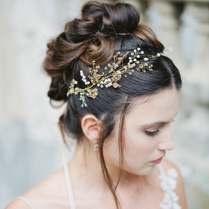 Isadora Gold Bridal Headpiece