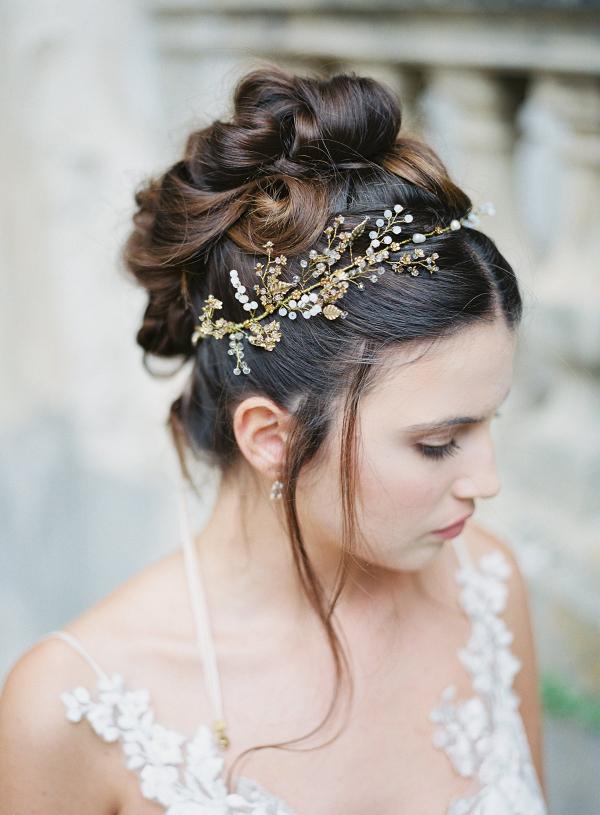 Isadora Gold Bridal Headpiece