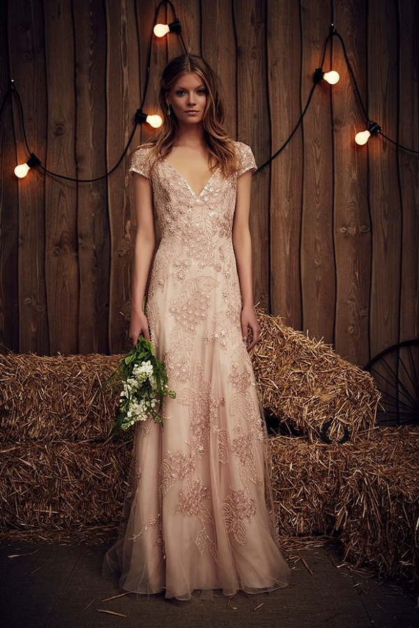 Blush Wedding Dress from Jenny Packham's Spring 2017 Bridal Collection