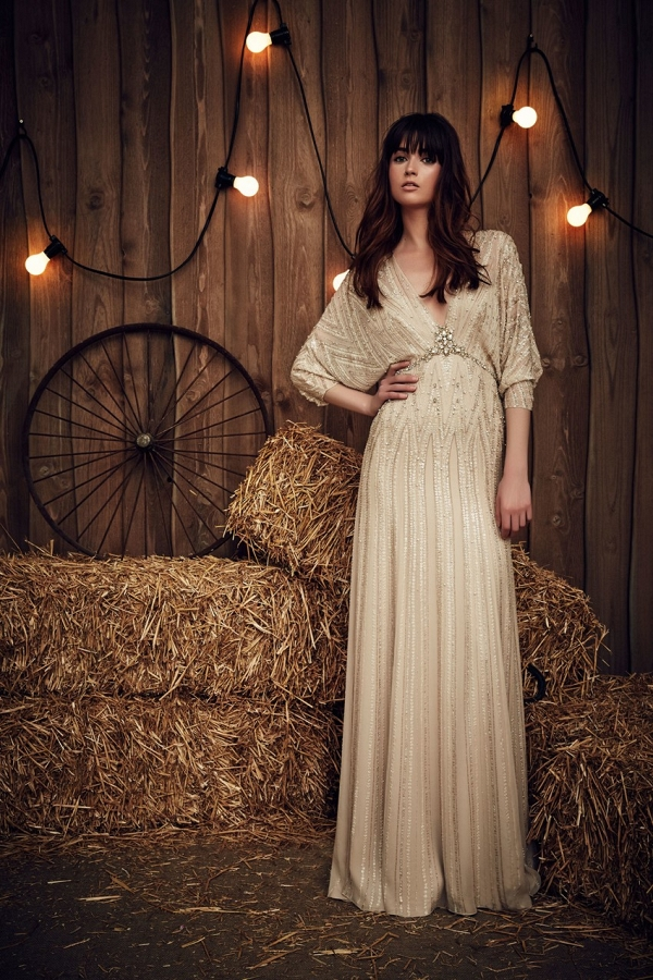 Boho Wedding Dress from Jenny Packham Spring 2017 Bridal Collection