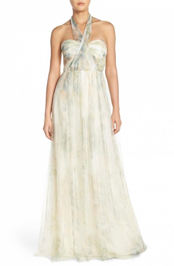 Jenny Yoo 'Annabelle' Print Tulle Bridesmaid Dress