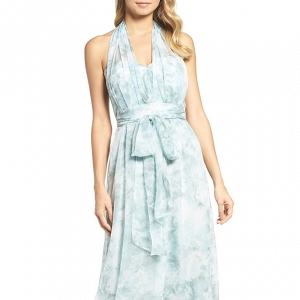 Jenny Yoo 'Nyla' Floral Print Convertible Bridesmaid Dress