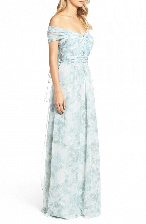 Jenny Yoo 'Nyla' Floral Print Bridesmaid Dress