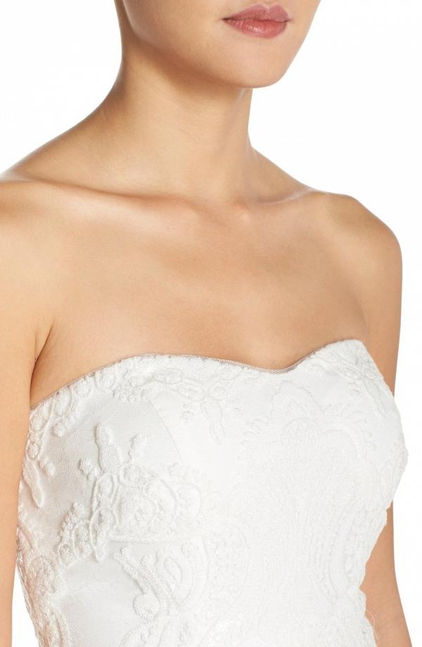 Jenny Yoo 'Sadie' Strapless Sweet Heart Neckline Gown