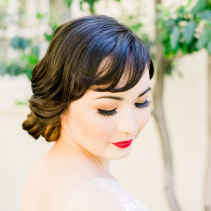 Retro bridal hair and makeup