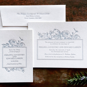 Letterpress Floral Wedding Stationery