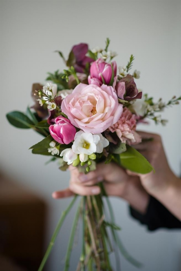 Just-Picked Spring Pink Wedding Bouquet Recipe