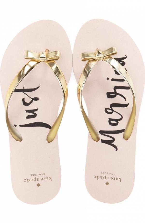 Kate Spade 'Just Married' Flip Flop