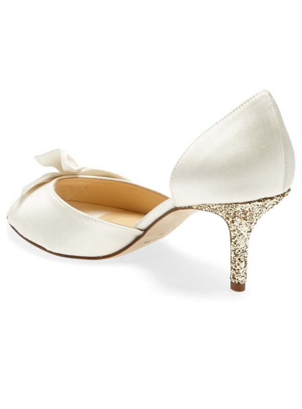 Kate Spade 'Sala' Glittering Gold Heel Bridal Pump