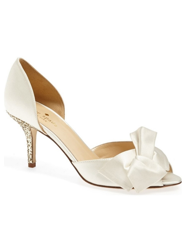 Kate Spade 'Sala' Gold Sparkly Heel Bridal Pump