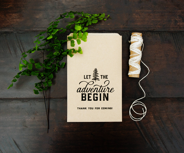 Kraft Paper Wedding Favor Bags