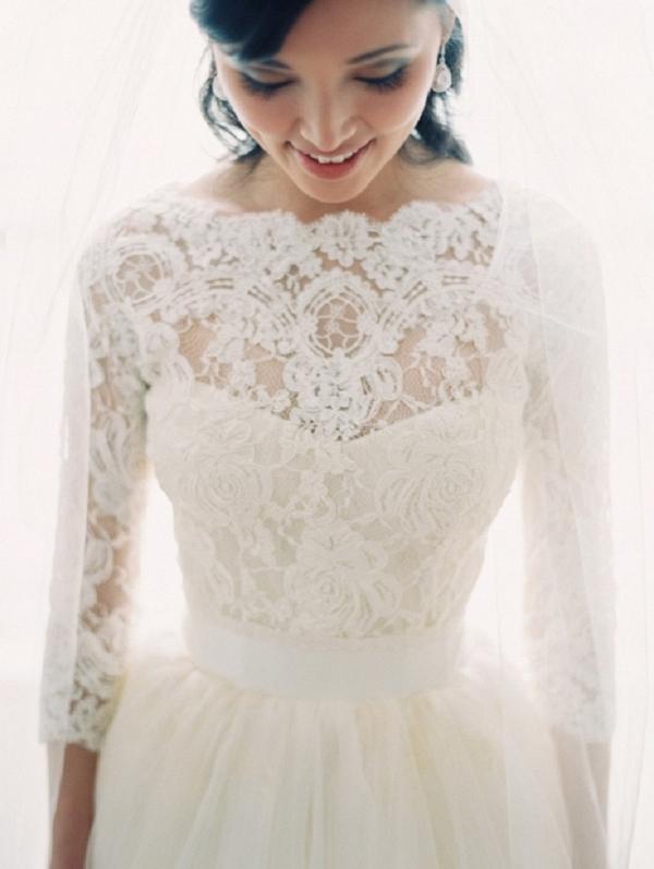Elegant Lace Bridal Top