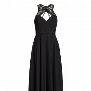 Strappy Halter Black Dress