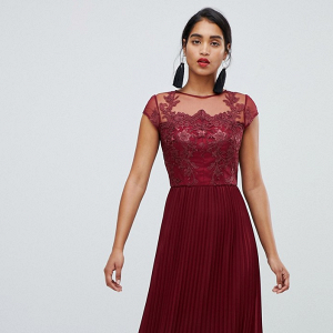 Lace Embroidered Top Bridesmaid Dress