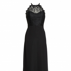 Lace Halter Black Dress