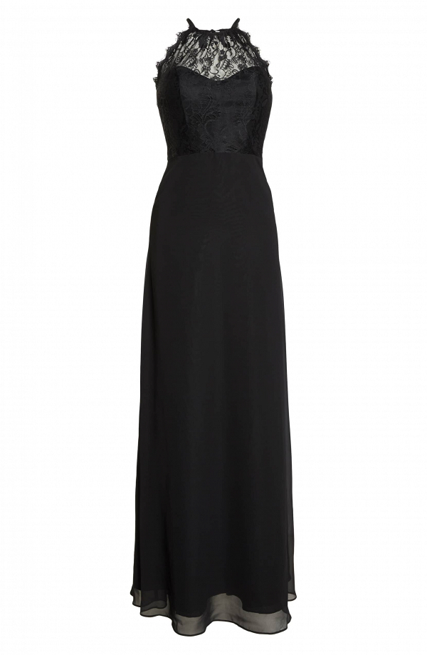 Lace Halter Black Dress