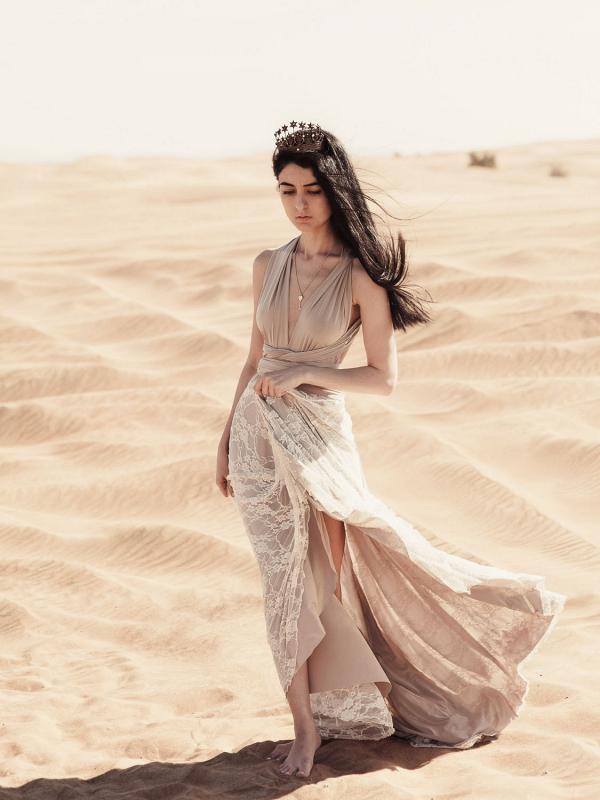 Multi Way Wrap Bridesmaid Dress
