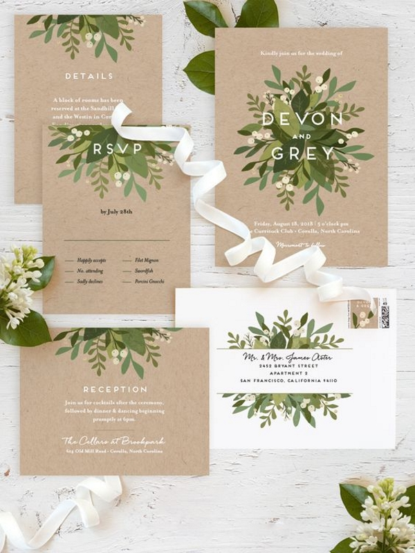 Laurel of Greens Wedding Stationery Suite