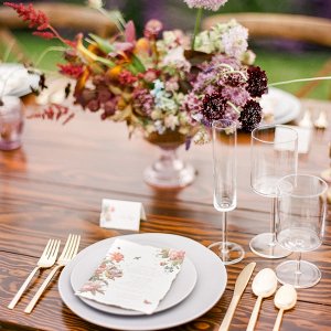 Lavender farm place setting