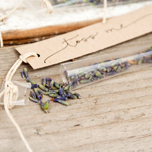 Lavender Toss Wedding Confetti Wands