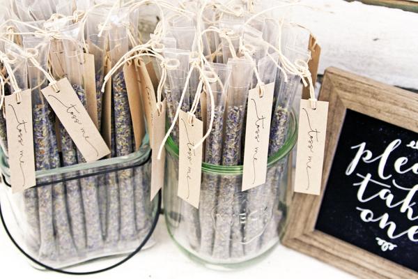 Lavender Toss Wedding Confetti Wands