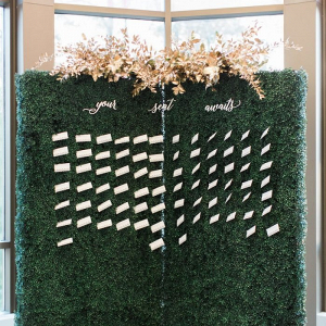 Boxwood wall seating chart
