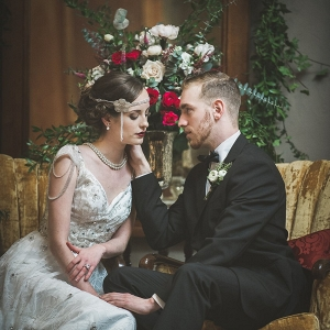 Dapper Art Deco Inspired Bride & Groom