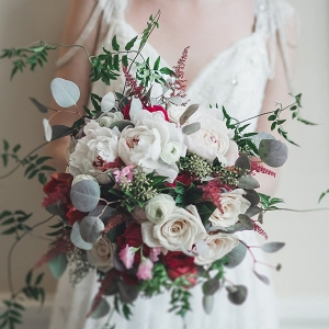 Romantic Art Deco Bridal Bouquet of Roses