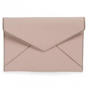 'Leo' Envelope Clutch Dusky Pink