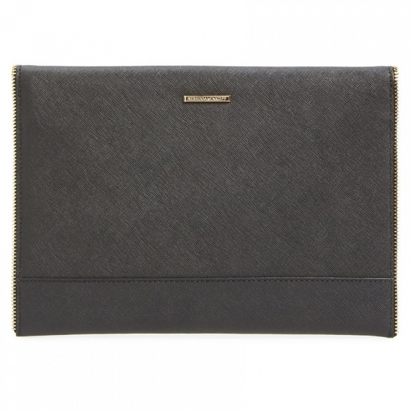 'Leo' Leather Envelope Clutch