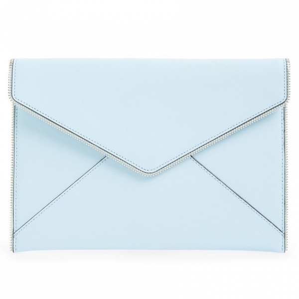 'Leo' Blue Envelope Clutch
