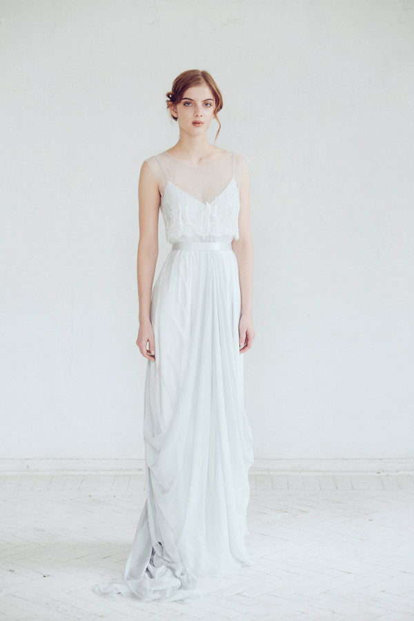 'Lili' Silk Wedding Dress