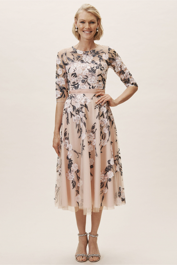 Floral Mother of the Bride Dress