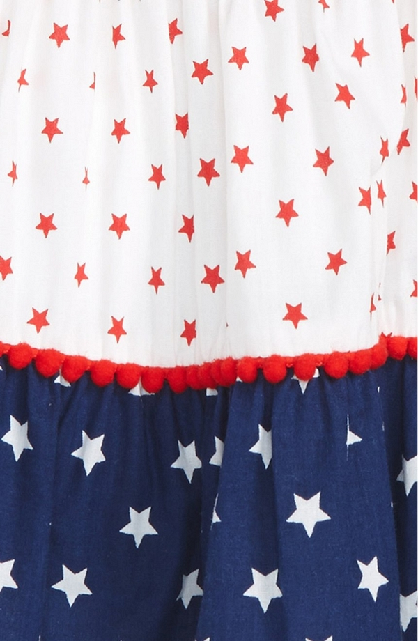 Little Me 'Patriotic' Tiered Flower Girl Dress
