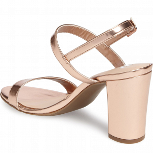 Rose Gold Block Heel Sandals