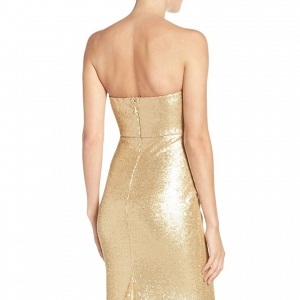 Strapless Sequin Mermaid Bridesmaid Dress
