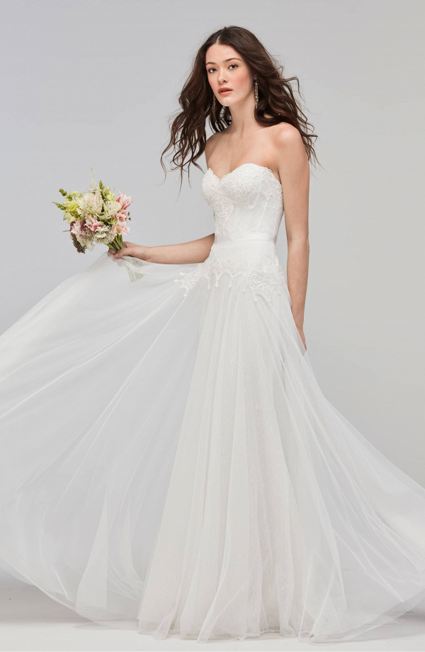 Willowby Lupine Strapless A-Line Wedding Dress
