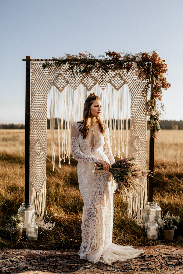 Macrame Boho Wedding Backdrop