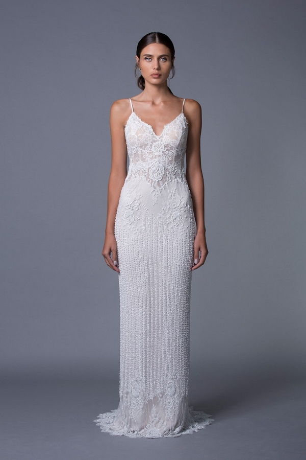 Amber Beaded Wedding Dress from Lihi Hod's 2017 Bridal Collection