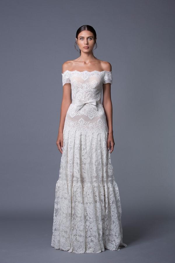Ella Off Shoulder Lace Wedding Dress from Lihi Hod